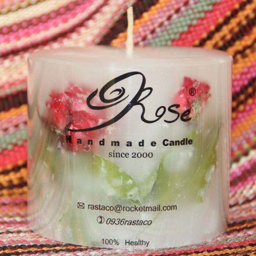 شمع گل رز
