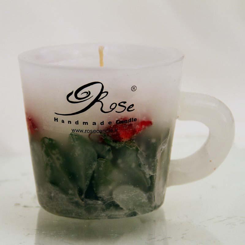 شمع ماگ گل رز